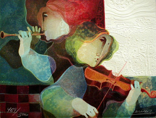 Violin and Flute
