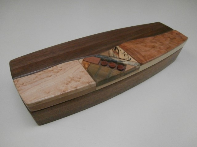 Larry Anderson exotic                   wood boxes