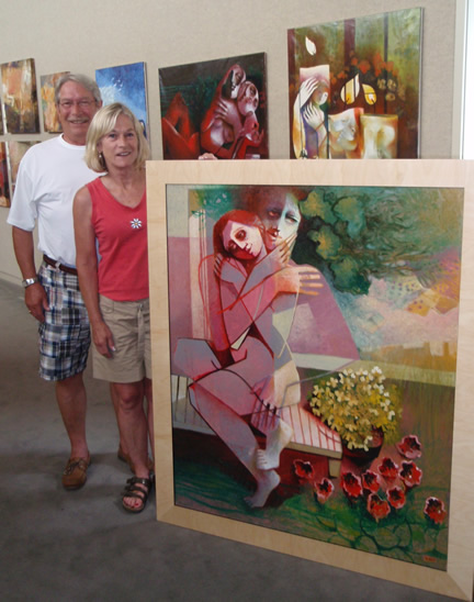 Anne and Edward with Shiff                                 painting