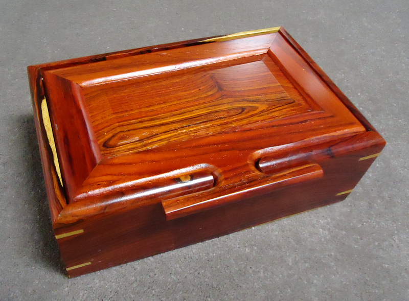Saper galleries is the source for handmade wooden boxes from costa rica deep jewelry box in cocobolo wood with chamfered lid and sliding removable inner tray 5 58 x 8 34 x 3 sorry sold for 148 solutioingenieria Images