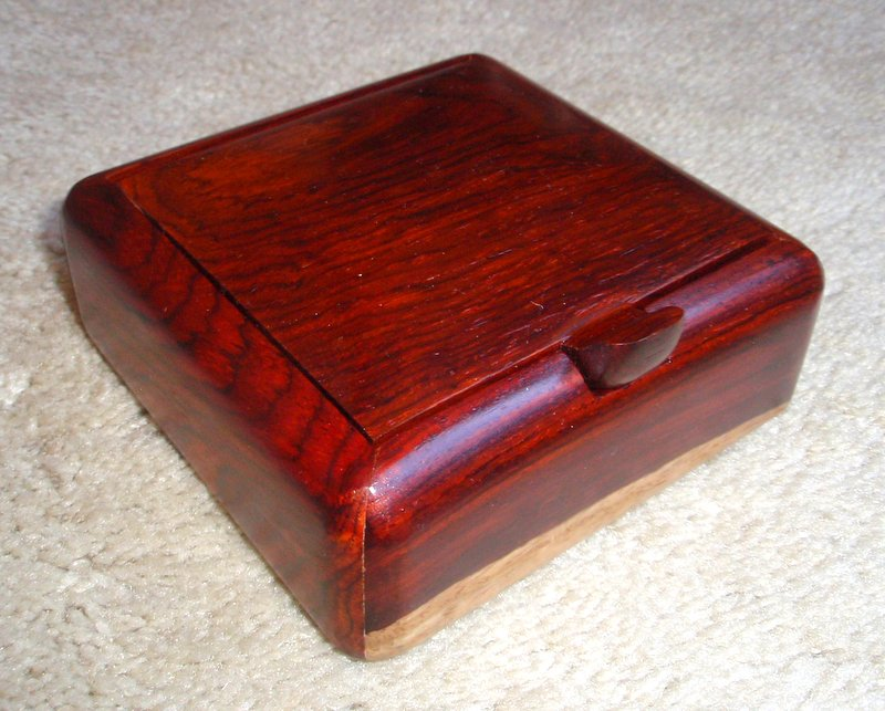 Square box with convex lid