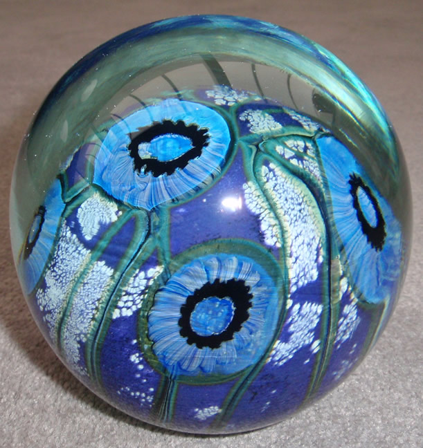 Deep sea round paperweight