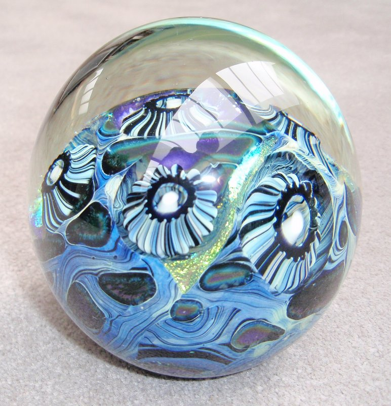 Deep                     Sea Purple Paperweight