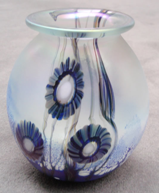 Seascape                     Iridescent Pillow Vase Medium