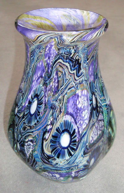 Deep sea                     large purple vase