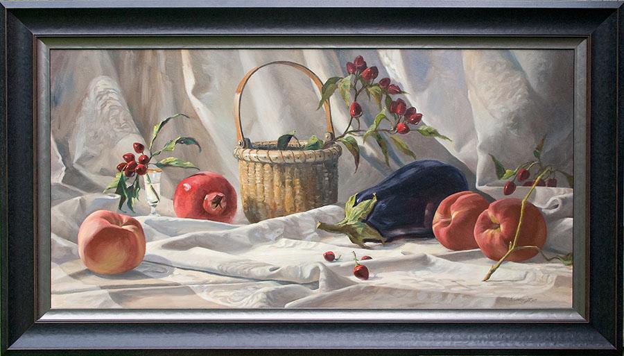 arrangement on damask