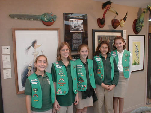 Girl                                 Scouts from St. Thomas Acquinas