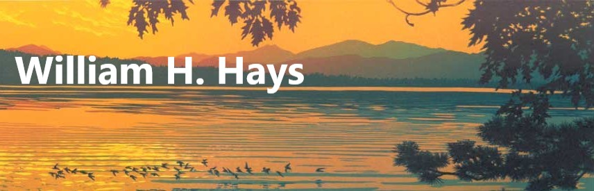 William Hays         linocuts at Saper Galleries