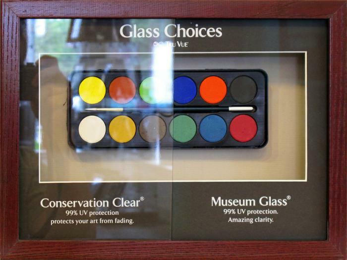 Museum                 glass display