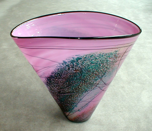 Conic Purple Vase