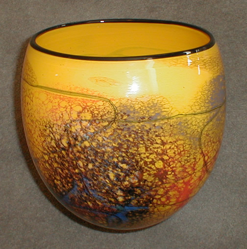 Oval Yellow Vase