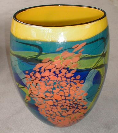 Yellow and Blue Vase