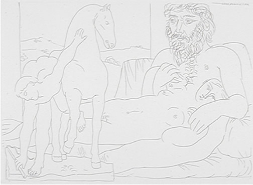 Line Art By Picasso : Pablo picasso drawings