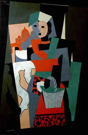 picasso cubism portrait. Girl with Mandolin (Cubism)