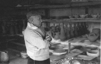 Picasso at Madoura Pottery in France