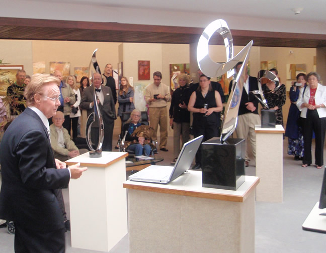James T. Russell                       speaking at Saper Galleries