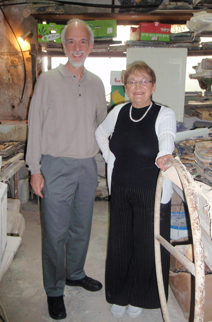 Roy                                 Saper with artist Ruth Faktor