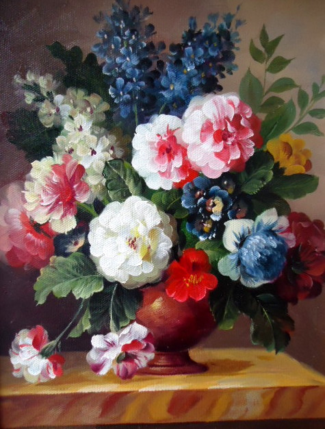 Oil Paintings Of Flowers In A Vase Vase And Cellar Image Avorcor Com