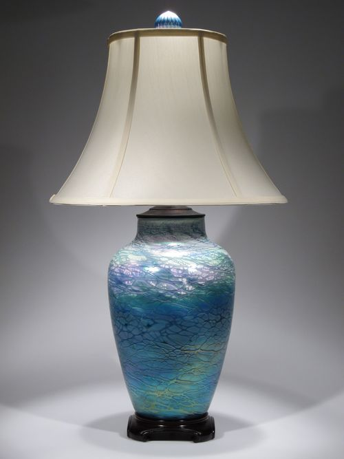 Large lustre lamp                     in turquoise