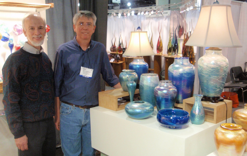 Gallery owner Roy                     Saper with artist Tom Stoenner